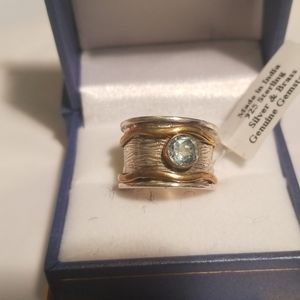 NWT Sterling Blue Topaz Ring 7
